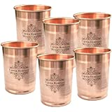 Copper heritage 900ml Glasses, Pack of 6, Copper