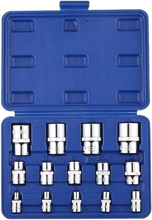 """9 Piece 3//8/"""" Drive Impact Female Torx Socket Set E5-E16 T/&E Tools 97339 NEW"""
