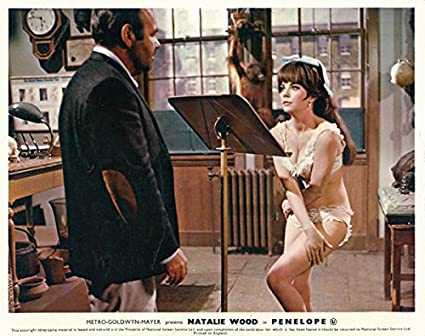 Penélope Original Lobby Card Natalie madera Sexy ropa interior Jonathan Winters