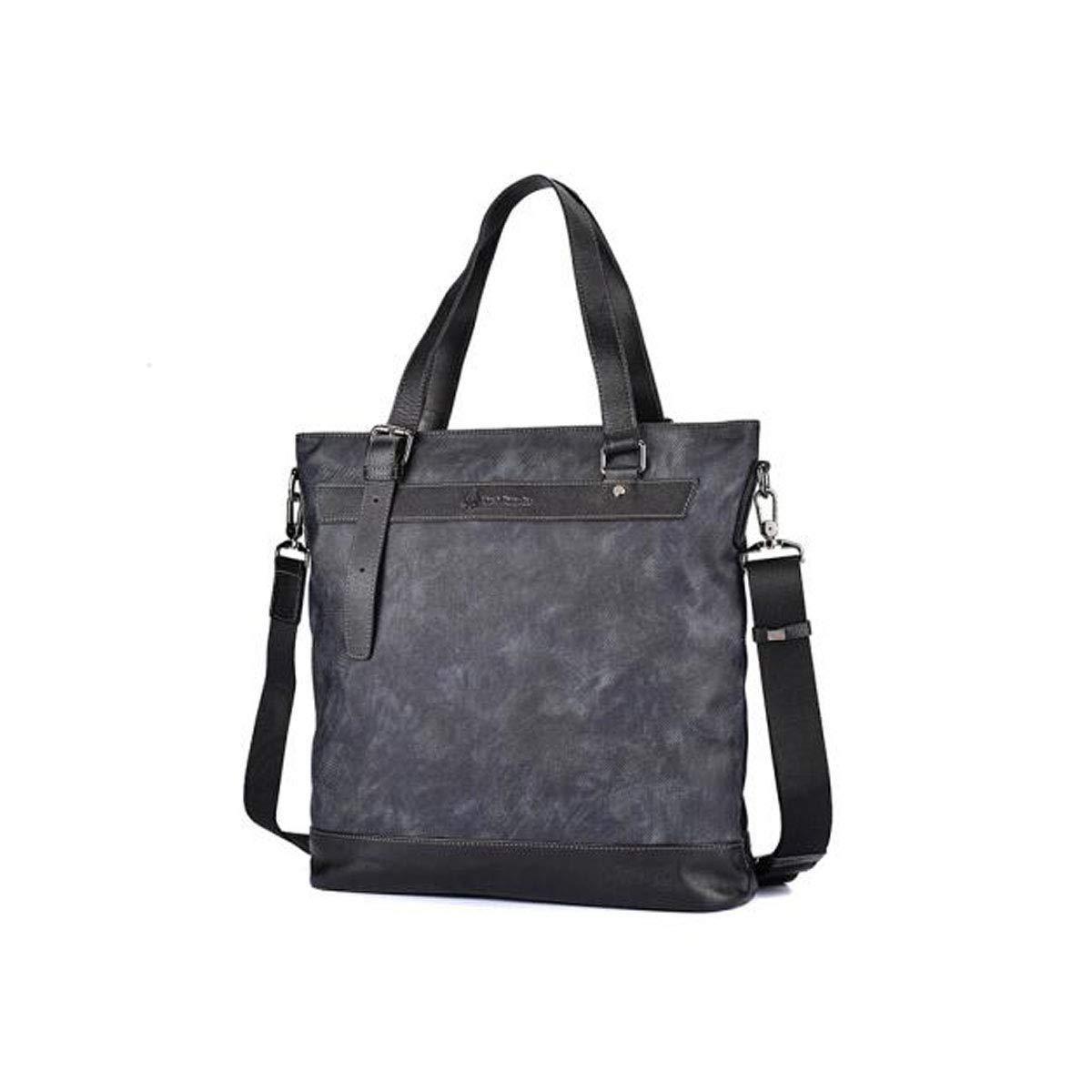 Kuqiqi Briefcase Mens Handbag Oxford Business Casual Backpack Color : Black Black Size: 34.51136cm