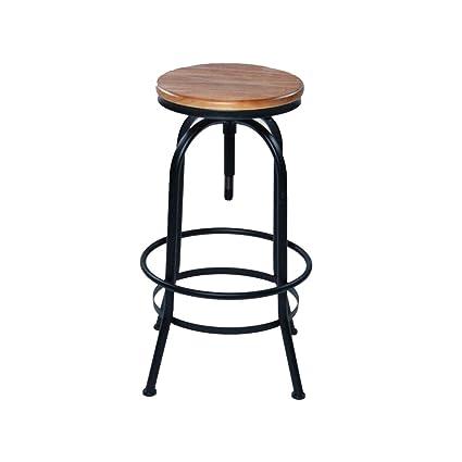 Sensational Amazon Com Stool Barstools Round Wood Top Bar With Footrest Ibusinesslaw Wood Chair Design Ideas Ibusinesslaworg
