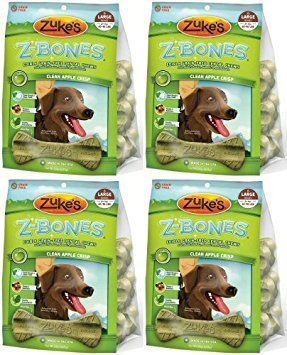Zukes Z-Bones Edible Dental Chews Large Apple Crisp 3.7lb - Edible Dental Chew Z-ridge