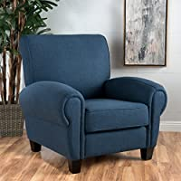 Chadney Navy Fabric Club Chair