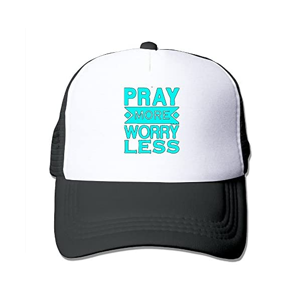 Pray-More-Worry-Less-Christian-Designed-Fitted-Hats