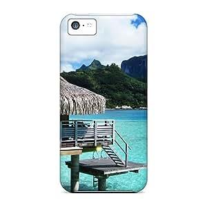 Apple Iphone 5c DPu8030Glns Allow Personal Design High-definition Bora Bora Bungalow Series Perfect Cell-phone Hard Covers -CharlesPoirier