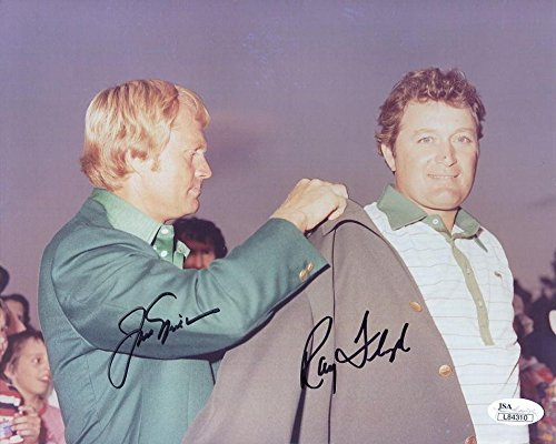 Signed Ray Floyd Picture - JACK NICKLAUS+ 8x10 COLOR 1976 MASTERS - JSA Certified - Autographed Golf ()