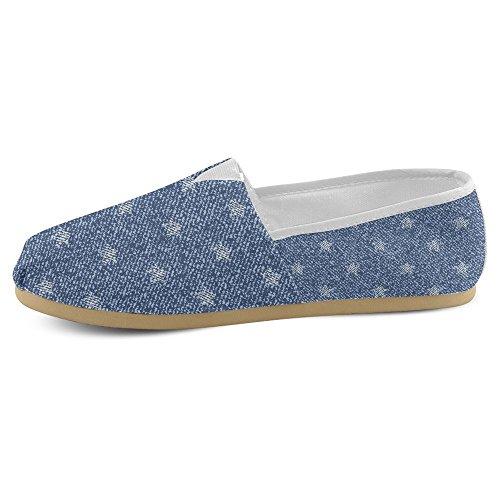 Mocassini Da Donna Di Interestprint Classico Su Tela Casual Slip On Scarpe Moda Sneakers Flats Jeans Con Stelle Jeans Stelle