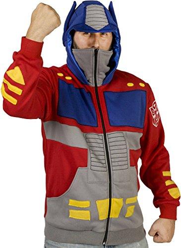 80sTees Men's Optimus Prime Costume Hoodie - Small