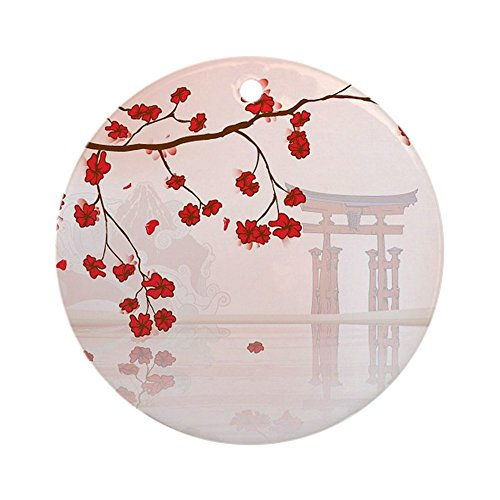 CafePress Japanese Backgroun Christmas Ornament
