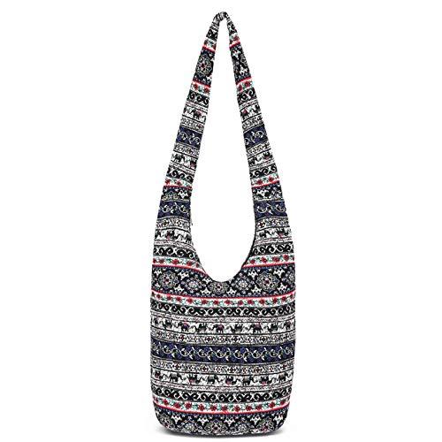Women Hand Fashion canvas Crossbody Bags Cotton Bohemian Animal Prints Hobo Bags (multi)
