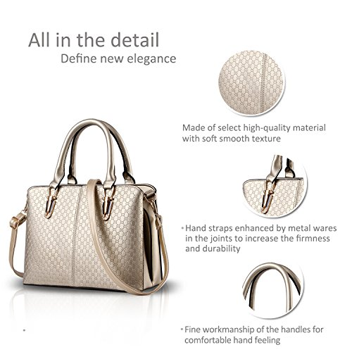 female large casual women shoulder Messenger for trend Nicole bag fashion retro 2018 bag Champagne amp;Doris Gold Claret handbags handbag bag qYvS1I