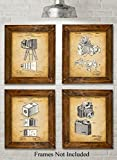 Original Camera Patent Art Prints - Set of Four Photos (8x10) Unframed - Great Gift for Photographers