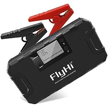 flyhi 800a peak 18000mah portable car jump starter d12 up to 6 5l gas or 5 2l. Black Bedroom Furniture Sets. Home Design Ideas
