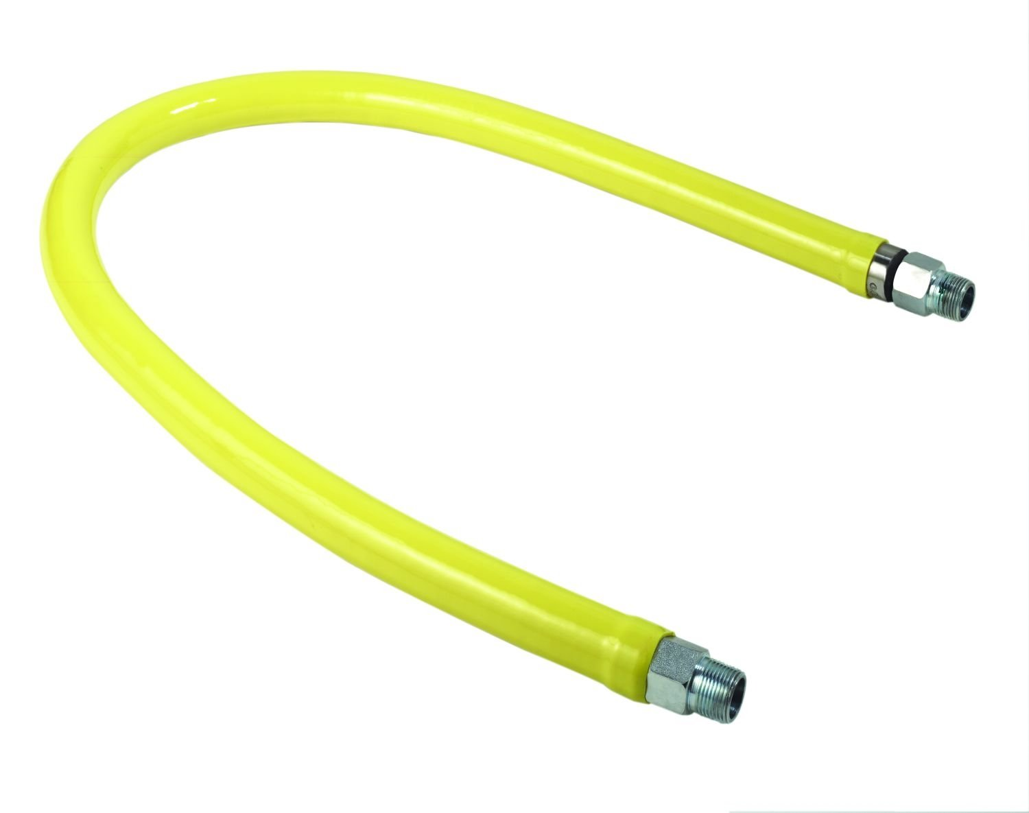 T/&S Brass HG-2E-72 Gas Hose with Free Spin Fittings 1-Inch Npt and 72-Inch Long