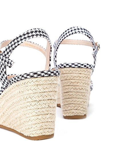 de Dulces de Planas Punta Sandalias de Sandalias DHG Verano Zapatillas de S Ocasionales Sandalias Color de Mujer Moda BZxEwf5