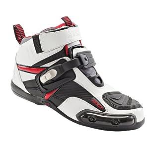 Joe Rocket Atomic Men's Motorcycle Riding Boots/Shoes (White/Red, Size 11)