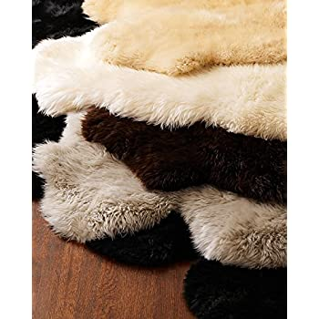 Amazon Com 6x7 5 Long Wool Sheepskin Rug Eclipse