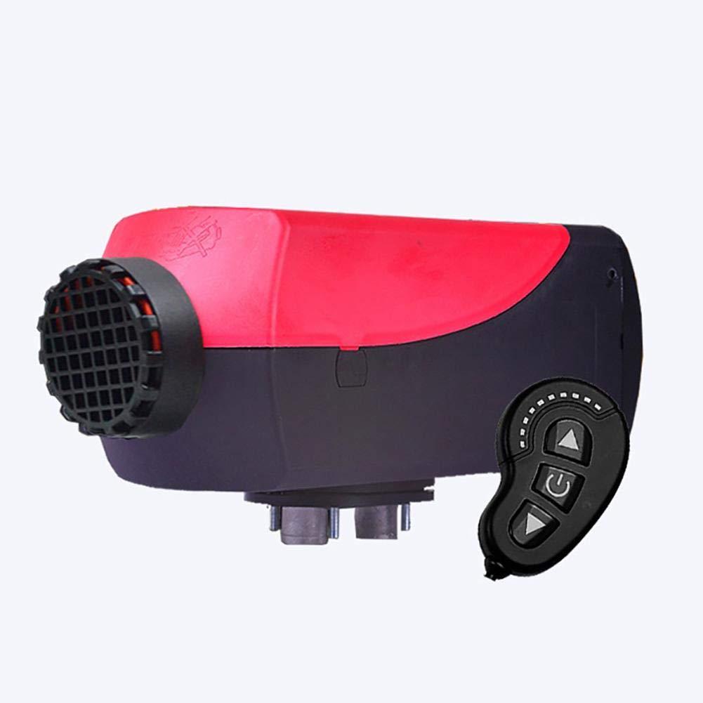 Yunhigh 5KW 12V Chauffage au Carburant Diesel avec té lé commande contrô le Moniteur et Silencieux Chauffage de Parking de Voiture pour Camping-Car, Caravane, camions, Bateaux, Bus (Rouge + Noir)