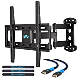 Mounting Dream MD2377 TV Wall Mount Bracket for most of 26-55 Inch LED, LCD, OLED Flat Screen TV with Full Motion Swivel Articulating Arm up to VESA 400x400mm and 66 lbs with Tilting