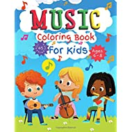 Music Coloring Book for Kids Ages 4-8: Great Coloring and Activity Book for Any Fan of Music