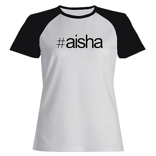 Idakoos Hashtag Aisha - Nomi Femminili - Maglietta Raglan Donna