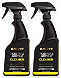 Rolite Plastic & Acrylic Cleaner (16 fl. oz.) Motorcycle Windshields, Marine Eisenglass, Headlights, Retail Displays, 3D Printers & Hot Tubs 2 Pack