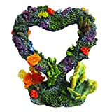 Siger Aquarium Ornaments Resin Big Heart Aquarium Supplies for Theme Decorations Fish Tank Aquatic Plants Accessories
