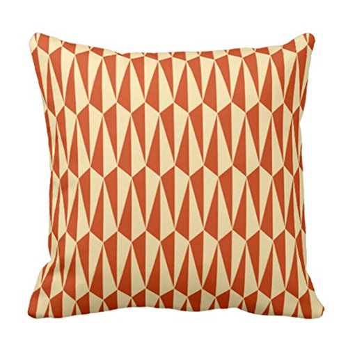 Emvency Throw Pillow Cover Retro Mid Century Modern Geometric Shades of Mandarin Decorative Pillow Case Home Decor Square Pillowcase 51j5ZlbMHwL