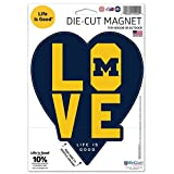WinCraft Michigan Wolverines Official NCAA 5'' x Life is Good Love Logo Magnet Refrigerator Car 5x5 by 287045