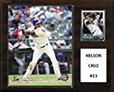 "C&I Collectables MLB Seattle Mariners Nelson Cruz Player Plaque, 12""x15"""