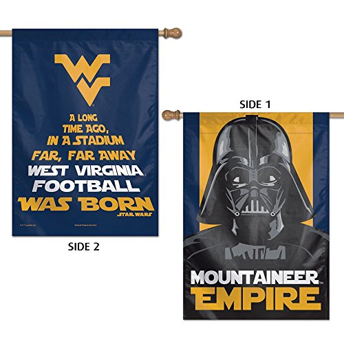 West Virginia Mountaineers Official NCAA Flag Banner 28x40 by Wincraft 322012 by WinCraft