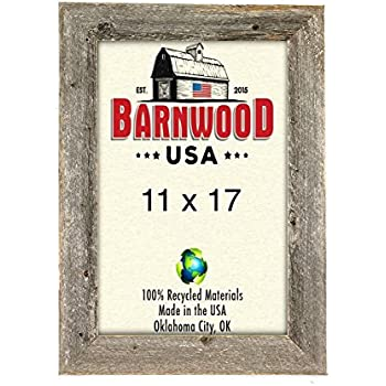 Amazon.com - BarnwoodUSA Rustic 11x17 Inch Picture Frame 1 1/2 Inch ...