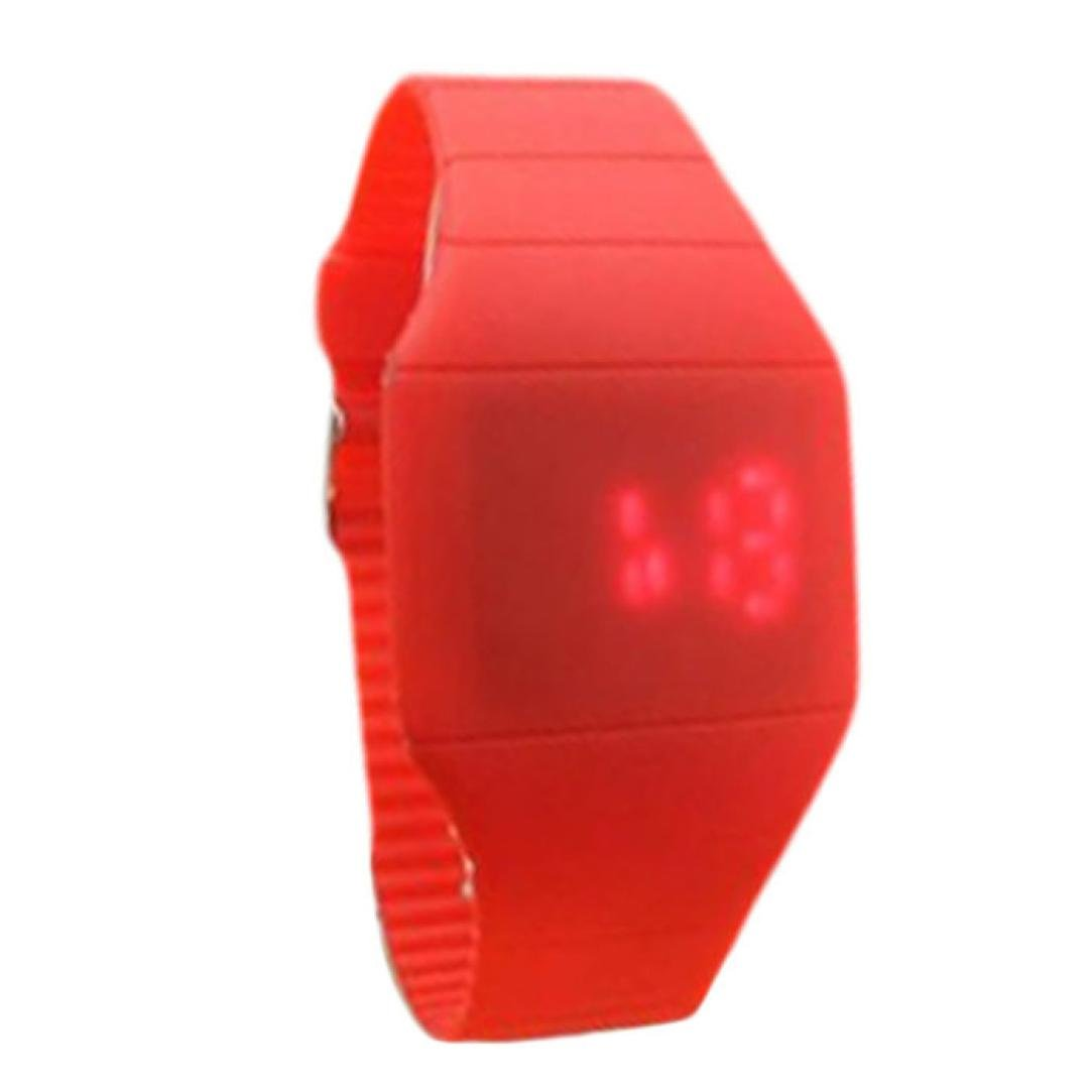 SMTSMT Children's The Jelly Ultra-Thin Sport Wrist Watch-Red