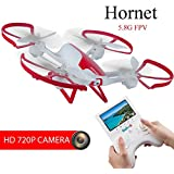 TechRC TR003 RC FPV Drone Quadcopter with 2.0MP HD Camera Live Video 6-Axis Gyro 5.8G with 4.3 Display Screen Altitude Hold Headless remote control 3D Flips One Key Landing for Beginner