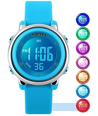 USWAT Kid Watch Multi Function 50M Waterproof Sport LED Alarm Stopwatch Digital Child Wristwatch for Boy Girl from USWAT