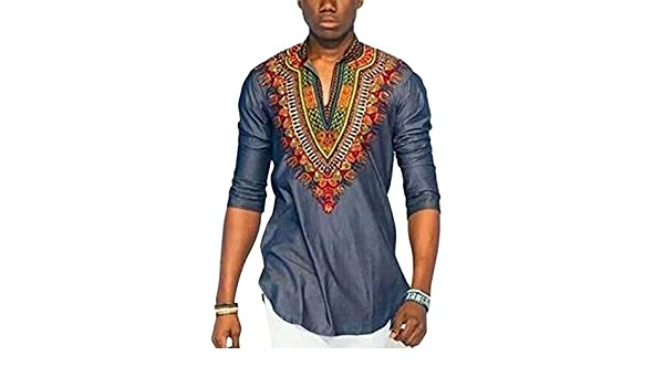 Hzjundasi Hombre Africano Nacional Ropa Camisetas Cuello en V Manga corta Retro: Amazon.es: Ropa y accesorios