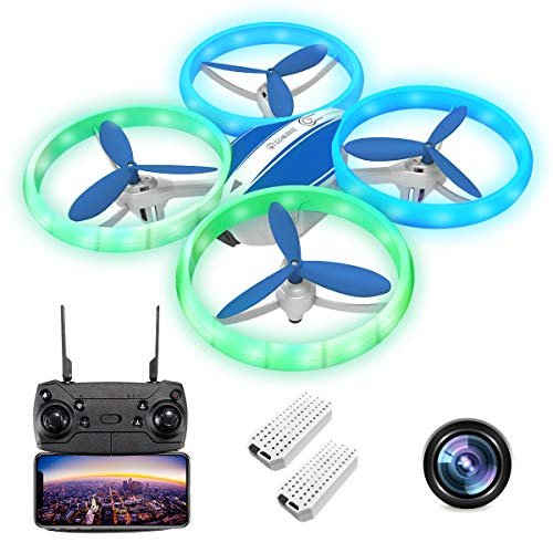 EACHINE E65HW Mini Drone with Camera 1080P for Adults 3D Flips Propellers Safety Guard Indoor Outdoor Drone Easy to…