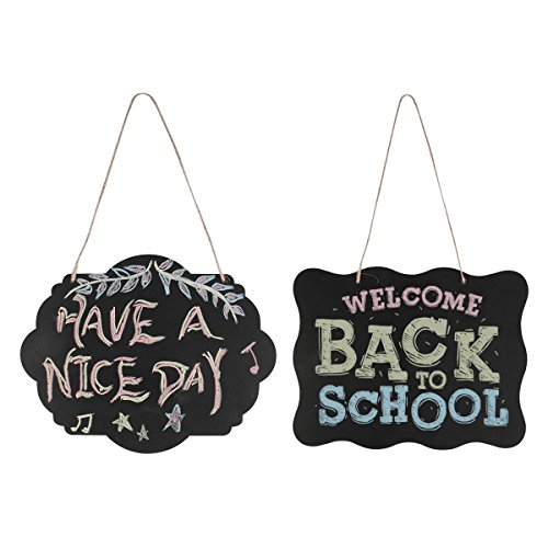 Chalkboard Sign,LANMU Message Board Signs,Double-Sided Chalkboard,Hanging Chalkboard for Wedding/Wall/School/Kitchen/Door/Kids (With Hanging String)-2 (Chalkboard Door)