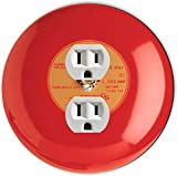 Rikki Knight RND-OUTLET-95 Fire Alarm Round Single Outlet Plate