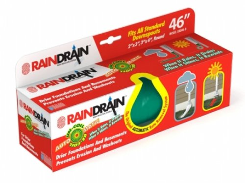 Raindrain 46 Inch Automatic Recoiling Downspout Green