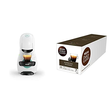 Pack DeLonghi Dolce Gusto Piccolo XS EDG210.W - Cafetera de cápsulas, 15 bares de presión, color blanco + 3 packs de café Dolce Gusto Espresso ...