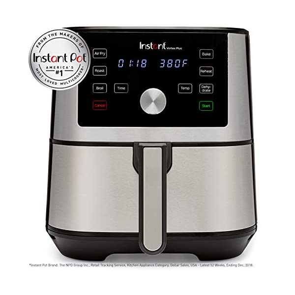 Instant Vortex Plus Air Fryer 6 in 1, Best Fries Ever, Dehydrator, 6 Qt, 1500W 2