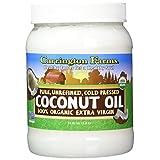 Carrington Farms - Organic Coconut Oil / Huile de Noix de Coco Biologique, Extra Virgin, Cold Pressed (1.5 kg) (54 oz) (3.3 lbs)