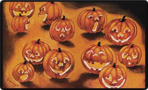 Toland Home Garden Jack-O-Lanterns in The Dark 18 x 30 Inch Decorative Spooky Floor Mat Halloween Pumpkin Doormat
