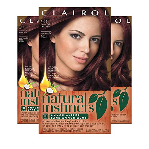 (Clairol Natural Instincts Hair Color, Shade 4rr/20r Malaysian Cherry Dark Red, 3 Count)