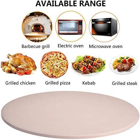 Pietra per pizza per forno e grill, pietra per pizza antiaderente resistente al calore per barbecue da ristorante di casa, rotonda, 33 cm / 12,99 pollici