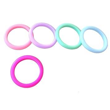 5 unidades de silicona anillos de boda para mujeres apilable silicona anillos boda bandas para las