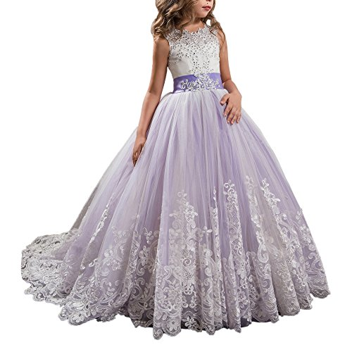 Purple Dresses Communion Princess Wedding product image