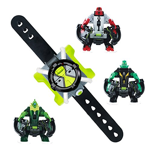 Ben 10 Omni-Launch Battle Figures- FourArms, Diamondhead & Wildvine