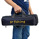 Fishing Rod Case Carrier Bag Portable Waterproof Fishing Rod Reel Bag Case Box Carry Holder Tackle Storage Backpack for Travel with Adjustable Strap